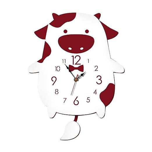 ❤️Doreleven Pegatinas de pared decorativas Reloj de madera ...