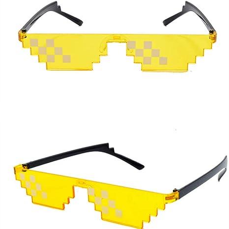 Vivianu Mosaico Colorido Gafas De Sol De Juguete Thug Life ...