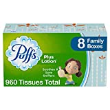Puffs Plus Lotion Facial Tissues, 8 Family Boxes, 120 Tissues per Box (960 Tissues Total): more info