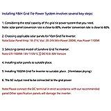 Y&H 1000W Grid Tie Inverter Stackable MPPT Pure Sine Wave DC10.8-30V Solar Input AC90-140V Output for 12V Solar Panel