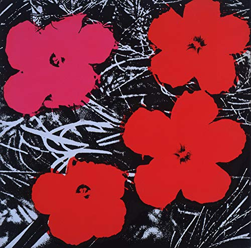 Berkin Arts Andy Warhol Giclee Art Paper Print Art Works Paintings Poster Reproduction(Flowers) Andy Warhol Flower Prints