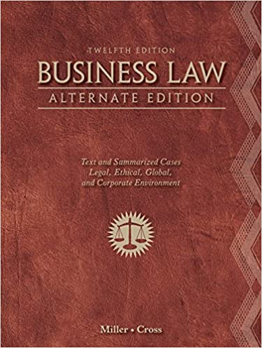WESTS BUSINESS LAW 13TH EDITION PDF DOWNLOAD
