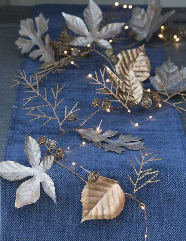 """Gardener's Supply Company Leaf and Berry Metal Garland, 70"""""""