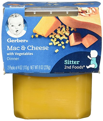 Gerber 2nd Foods Macaroni & Cheese with Vegetables, 4.0 Ounce Tubs, 2 Count (Pack of 8) (Best Cheese For Baby)