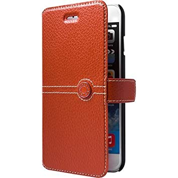 Façonnable FACOBKBELIP7O Etui folio pour iPhone 6 6S 7 8 , Orange ... b9559d2e954c