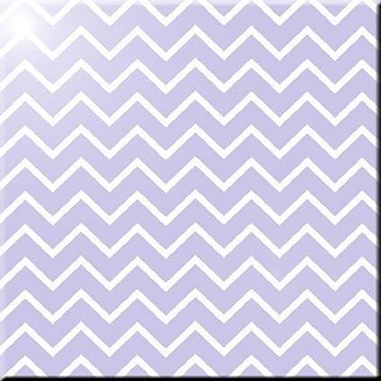 8 x 8 Rikki Knight Light Pink Chevron Zig Zag Stripes Design Ceramic Art Tile