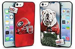 Diy iPhone 6 plus Georgia Bulldogs Hard Case TWO PACK for iPhone 6 plus