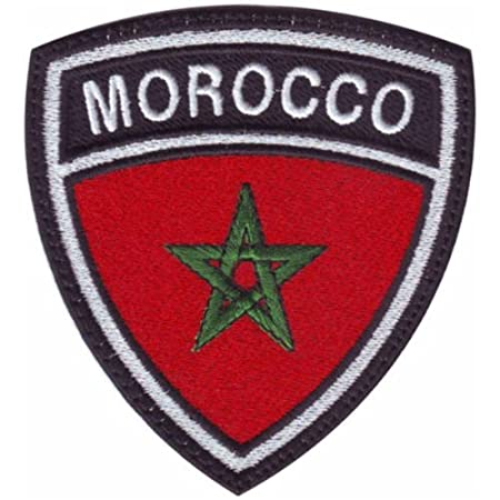 Flag of Morocco Embroidered PATCH//BADGE