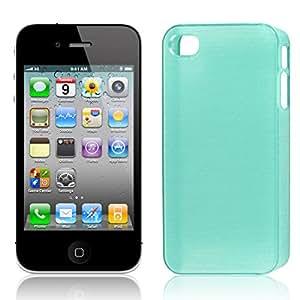 Cubierta de plástico protector verde para el iPhone de Apple 4 4G 4S