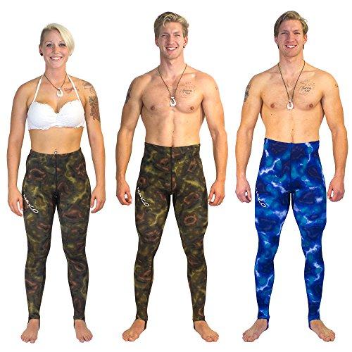 Dive Skin Rashguard Pants Blue Camouflage Lycra - 1.5mm (...