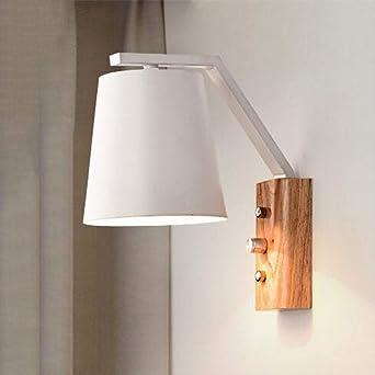 Modern Innen Wandleuchte Mit Schalter Wandlampe Holz Metall ...