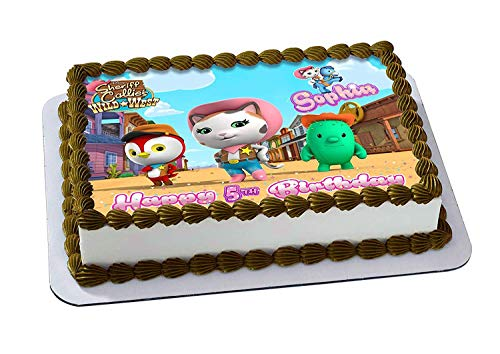 EdibleInkArt Sheriff Callie's Wild West Edible Cake Topper Personalized Birthday 1/4 Sheet Decoration Custom Sheet Party Birthday on Wafer Rice Paper]()