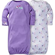 Gerber Unisex Baby 2 Pack Gown (0-6 Months, Elephants)