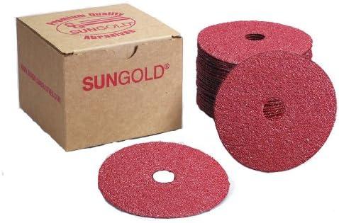 """B01HXD6QCC Sungold Abrasives 17202 36 Grit Aluminum Oxide Fibre Disc (25 Pack), 5 x 7/8"""" Center Hole 519SFFpNtsL"""