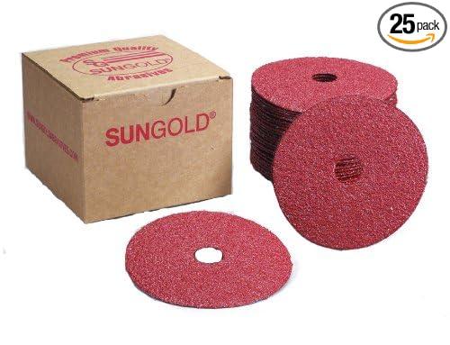 25-Pack Sungold Abrasives 17305 7 X 7//8 Center Hole 60 Grit Aluminum Oxide Fiber Disc