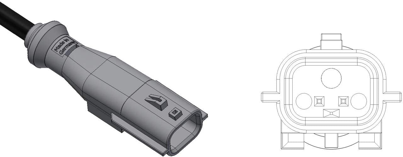 Auto Car Parts Made In Germany Abs Sensor Drehzahlsensor Wheel Speed Sensor 1 Stück Auto