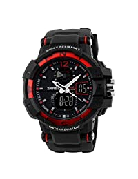 SKMEI Brand 1040 Japanese-quartz LED And Pointer Display , 50M Waterproof Multi-functional Sports Watch