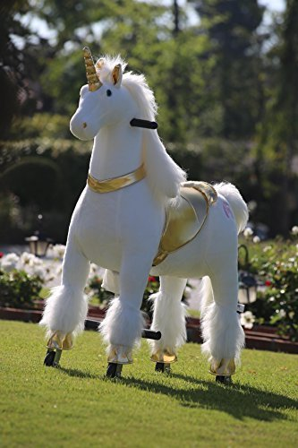 (Medallion - My Pony Ride On Real Walking Horse for Children 5 to 12 Years Old or Up to 110 Pounds (Color Medium Golden Unicorn) for Girls 5 to 12 Years Old)