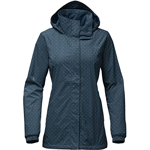 Nylon Parka - The North Face Women's Resolve Parka Blue Wing Teal and Triangle Dot Print - M