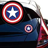 """Captain AmericaDecal Sticker for Car Window, Laptop and More. # 558 (4"""" x 4"""")"""