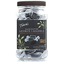 Tara's All Natural Handcrafted Gourmet Black Licorice Caramel: Small Batch, Kettle Cooked, Creamy & Individually Wrapped - 20 Ounce