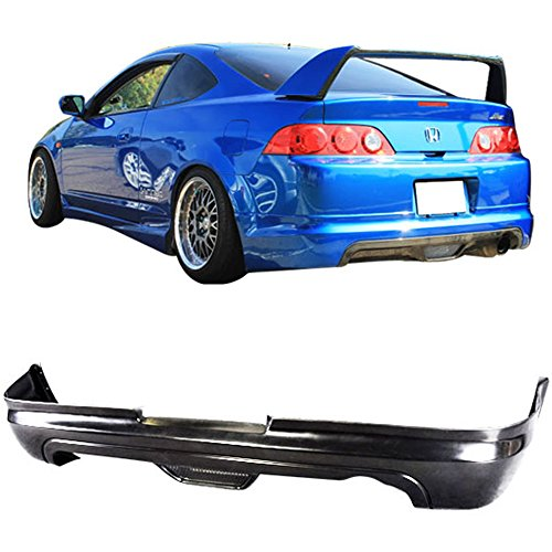 IKON MOTORSPORTS Rear Bumper Lip Fits 2005-2006 ACURA RSX | Polyurethane (PU) Unpainted Black Finisher ()