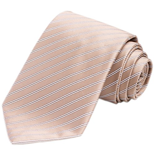 KissTies Champagne Tie Mens Tan Necktie Wedding Ties + Gift Box