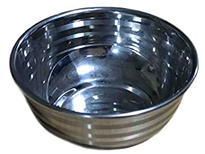 Easter Day Present, Stainless Steel Multi-Purpose Mixing & Serving Bowl Soup Bowls, Fruit Bowls, Snack bowls, Serving Tableware kitchen Dinnerware Bowls, Silver Color Size 4.5 X 4.5 Inch