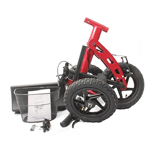 Health Port All-Road Knee Walker | Steerable Medical Scooter for Adults | Foldable & Lightweight | Smooth Pneumatic 12'' Wheels & Locking Parking Brakes | Adjustable Knee Pad & Handlebar | Red by Health Port (Image #8)