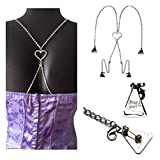 Strap N' Guard Women's Heart on Back Crystal Pin Straps for Bra, Tops, and Dress