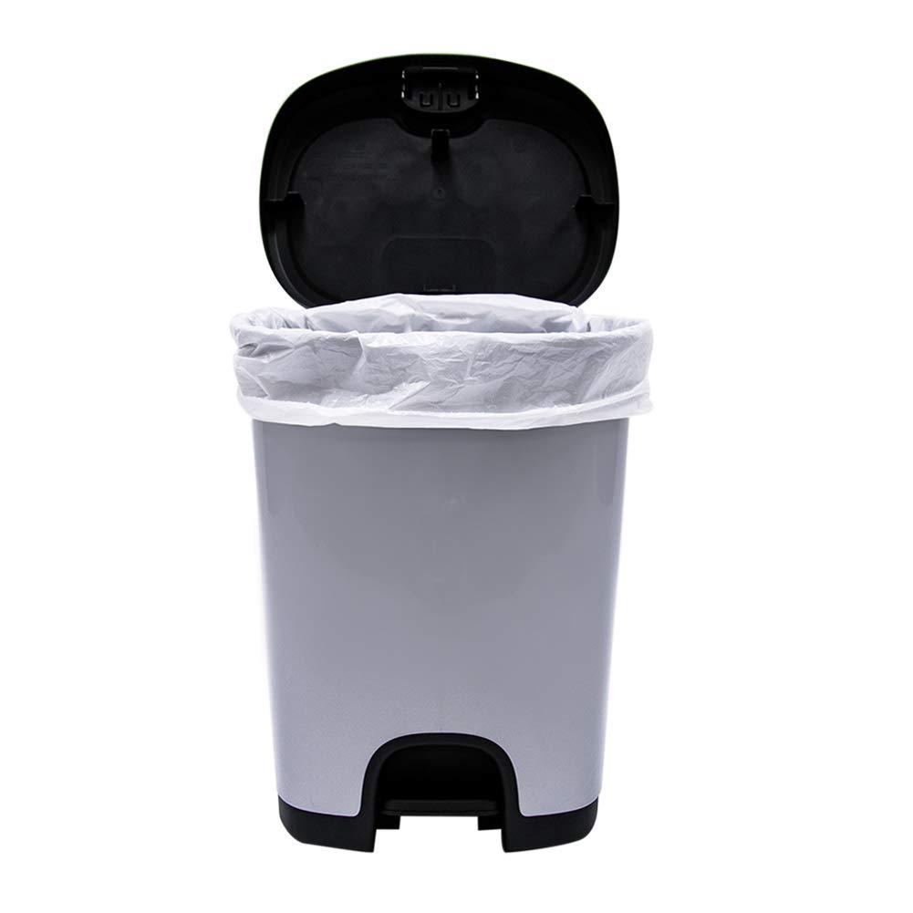 ABBA ECO ゴミ袋 8ガロン 透明 ゴミ袋 キッチン用 ゴミ袋 8 Gallon TB08FW01 B07GS3SMW7 4 Pack(200 Count), Clear 8 Gallon