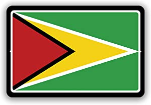 """Guyana Country Flag Man Cave Metal Decor Tin Sign Indoor and Outdoor use 8""""x12"""" or 12""""x18"""""""