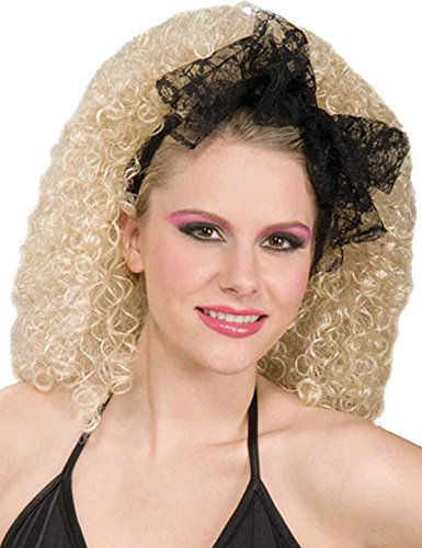 Desperately Seeking Susan Costumes (Black Lacey Hair Scarf Costume Accessory)
