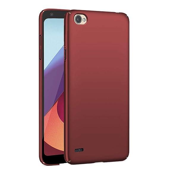 huge selection of dd00f e55aa TheGiftKart LG Q6 / Q6 Plus Back Cover - Ultra Slim 360* Matte Velvet Feel  Hard Back Cover - Wine Red