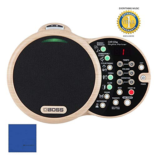 Boss DR-01S Rhythm Partner Acoustic Music Rhythm Machine with 1 Year EverythingMusic Extended Warranty Free