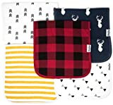 Best Burt's Bees Baby Shower Gifts - KiddyStar Baby Burp Cloths for Boys 5 Pack Review