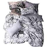 YOMIMAX 3D Marble Bedding Set Queen Size 3 Pieces Soft Quilt Cover Printed Bedding Sets(Queen,3Pcs)