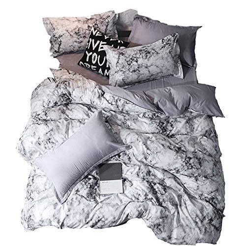 YOMIMAX 4-PC Moddern Bedding Sets Marble Line Print Bedding Set Without Comforter(Full,4Pcs)