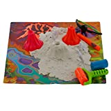Play Sand Deluxe Glow in the Dark Set - 1lb Sand With UV Light Pen, Glasses, Molds, and Playmat