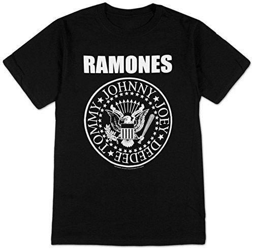 Impact Men's Ramones Presidential Seal T-Shirt, Black, Medium