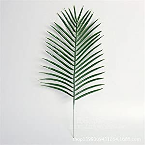 "Mynse 60 Pieces 19.3"" Simulation Plastic Leaves Artificial Plants Slim Chinese Fan Palm"