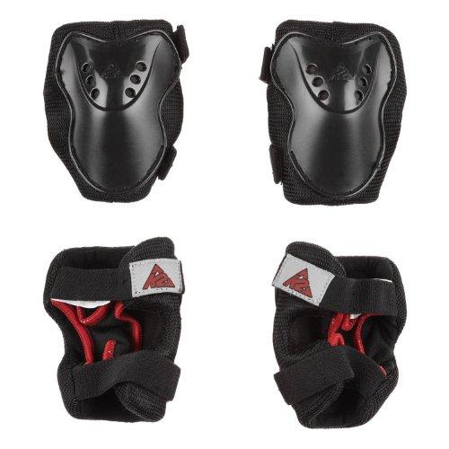 K2 Sk8 Hero Pro Boys Pad Set - Black/Red