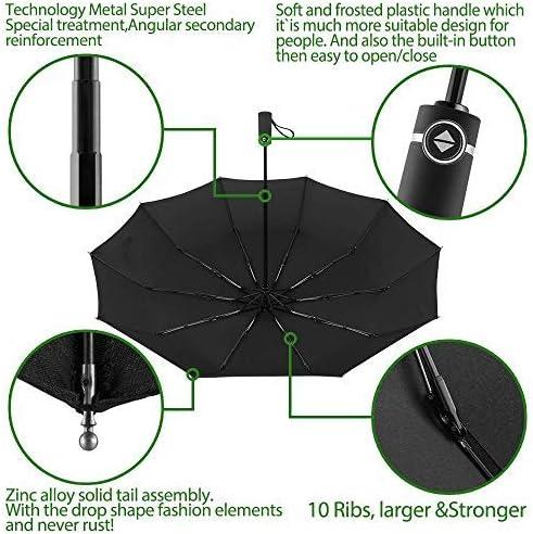 DORRISO Pliant Parapluie Double Canopy Conception R/ésistant Vent Compact Portable l/éger Voyage /étanche Ouverture//Fermeture Automatique Parapluie de Voyage