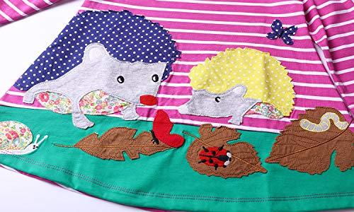Girlscartoon shirt Bambino Abito Lunga A Cotone Lemonkid Manica T Righe Abiti Di 4SqSwA