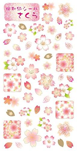 (Washi Kawasumi Washi Stickers Cherry Blossom Sakura 5 Sheets - Decorative Sticker)