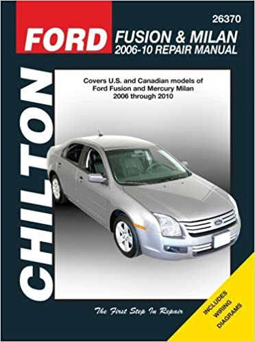 ford fusion & mercury milan: 2006 thru 2010 (chilton's total car care  repair manuals) by jay storer (2011-06-16) paperback – 1695