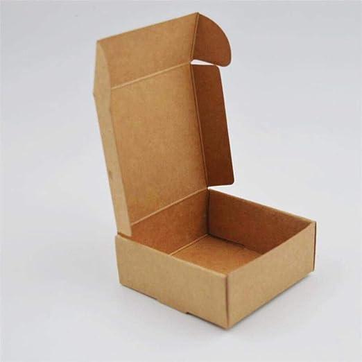 CTOBB - Caja de Papel Kraft (50 Unidades, Caja de cartón Kraft ...