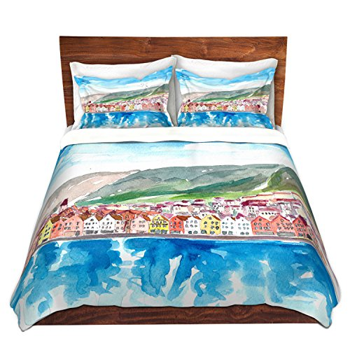 DiaNoche Designs Duvet Cover Brushed Twill Twin, Queen, King SETs by Markus Bleichner Bergen Norway King Duvet Sham SET - Berg Bed Set