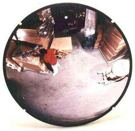 Plexiglas, 26-inch diameter, outdoor round convex mirror, ABS back