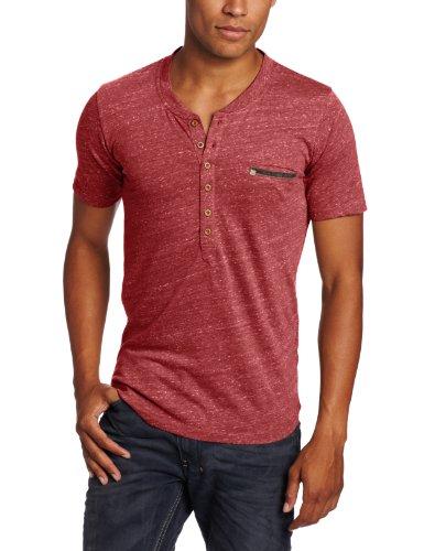 Diesel Men's T-erato Henley T-Shirt,  Mahogany, X-Large